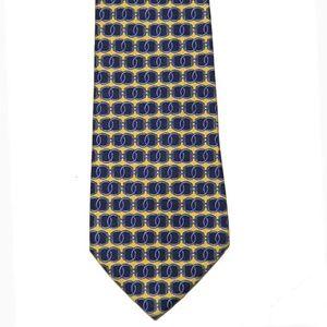 Vintage Brooks Brothers Tie Silk Yellow Blue Men's